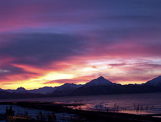 Kachemak Bay - Image: Sunrise on Kachemak Bay