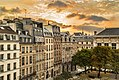 Sunrise over the Place Dauphine (France through my eyes) (29945192322).jpg