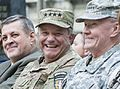 Supreme Allied Commander Europe U.S. Air Force Gen. Philip M. Breedlove, center, shares a laugh with Chairman of the Joint Chiefs of Staff Army Gen. Martin E. Dempsey, right, during the International Security 140826-D-HU462-505.jpg