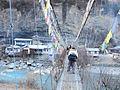 Suspension bridge, Annapurna, Nepal, Chame bridge.jpg