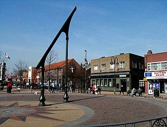 Sutton-in-Ashfield - Image: Sutton sundial 4