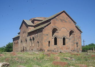 Aruchavank - The Church of Aruch with collapsed dome, 2008.