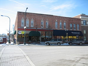 Commercial buildings in Sycamore Historic District - Waterman Block.