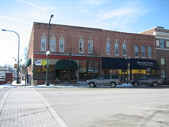 Sycamore Historic District - The Waterman Block.