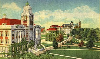 Syracuse University - The Old Row, campus of Syracuse University, 1920