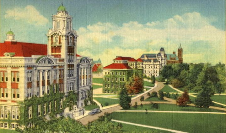Syracuse-university 1920 quad