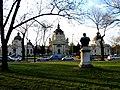 Széchenyi Gyógyfürdő from across Kós Károly sétány, 2013 Budapest (361) (13227625285).jpg