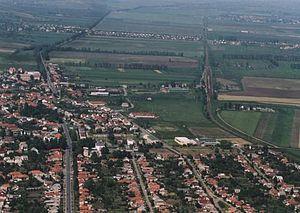 Szikszó - Image: Szikszó légifotó4