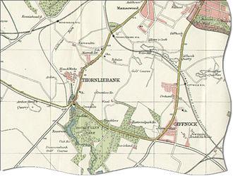 Thornliebank - Map of Thornliebank in 1923