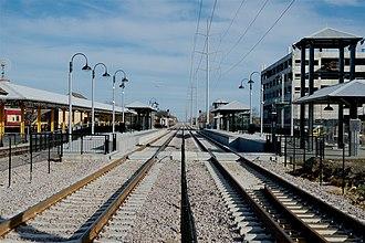 Grapevine-Main Street station - Image: TEX Rail Grapevine Main St 2018 1