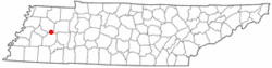 Location of Medina, Tennessee