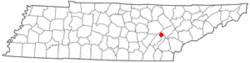 Location of Spring City, Tennessee