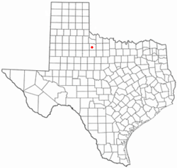 Location of Benjamin, Texas