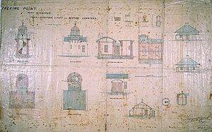 Tacking Point Lighthouse - Original plans by James Barnet, 1878