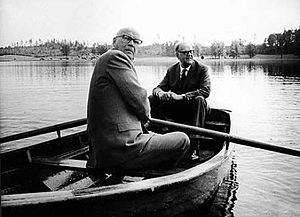Tage Erlander - Erlander with the President of Finland Urho Kekkonen in a rowing boat in Harpsund, Sweden, in 1967.