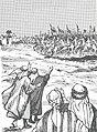 Tarikhuna bi-uslub qasasi-Muslim Army Arrives at Khaybar.jpg