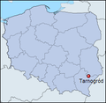 Tarnogród location map.png
