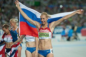 Tatyana Chernova - Chernova at the 2011 World Championships in Athletics in Daegu