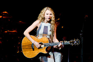 "Taylor Swift was the most successful country artist, with three songs on the chart: ""Our Song"" at 41, ""Teardrops on My Guitar"" at 48, and ""Love Story"" at 81. TaylorSwift 080208 photoby Adam-Bielawski.jpg"
