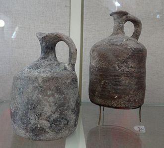 Leontopolis (Heliopolis) - Tell el-Yehudiyeh ware juglets. Rockefeller Museum