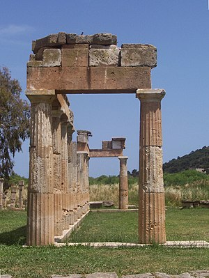 Brauron - The first known temple at the sanctuary, dating to the late 6th century BC.