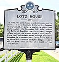 Tennessee Historical Commission Marker for the Lotz House.jpg