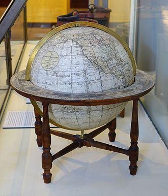James Wilson (globe maker) - Terrestrial globe by James Wilson, 1810