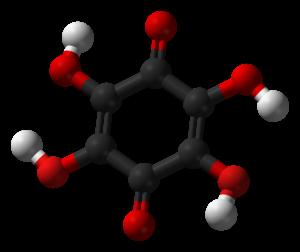 Tetrahydroxy-1,4-benzoquinone - Image: Tetrahydroxy 1,4 benzoquinone 3D balls