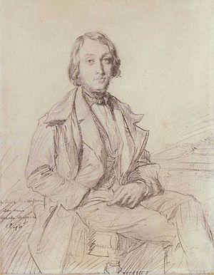Félix Ravaisson-Mollien - Théodore Chassériau, Portrait of Jean-Gaspard-Félix Larcher Ravaisson-Mollien