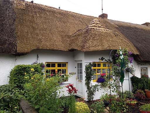 Thatched cottage in Adare, Ireland, July 2013