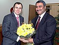 The Chief Minister of Jammu & Kashmir, Shri Omar Abdullah meeting the Union Minister for Health and Family Welfare, Dr. Anbumani Ramadoss, in New Delhi on January 29, 2009.jpg