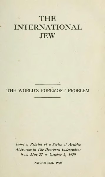 File:The International Jew - Volume 1.djvu