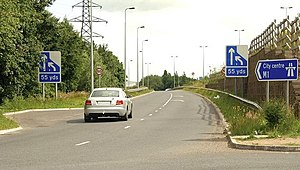 Murder of Ann Ogilby - The M1 motorway at Stockman's Lane close to where Ann Ogilby's body was found
