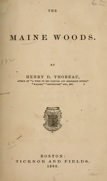 The Maine Woods (1864).djvu