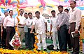 The Minister for Sports & Youth Welfare, Maharashtra, Shri Padmakar Valvi lighting the lamp to inaugurate the Public Information Campaign on Bharat Nirman, at Akkalkuwa, District Nandurbar, Maharashtra on October 10, 2013.jpg