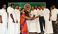 The Minister of State (Independent Charge) for Consumer Affairs, Food and Public Distribution, Professor K.V. Thomas presenting the Efficiency Award to the Kallakurichi-II Cooperative Sugar Mills Ltd. Kachirayapalayam.jpg