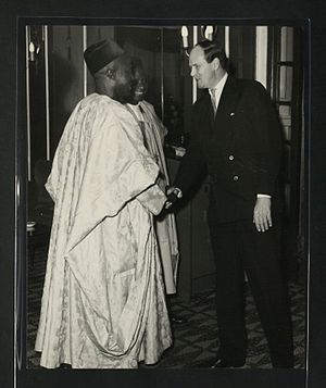Andrew Cavendish, 11th Duke of Devonshire - Andrew Cavendish at a reception given by the Agent-General for Northern Nigeria