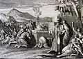 The Phillip Medhurst Picture Torah 449. Worshipping the golden calf. Exodus cap 32 vv 4&6. Caspar Luyken.jpg