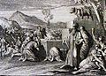 The Phillip Medhurst Picture Torah 449. Worshipping the golden calf. Exodus cap 32 vv 4&6. Caspar Luyken.jpg