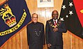 The President, Shri Pranab Mukherjee meeting the Governor General of Papua New Guinea, Sir Michael Ogio, at Government House, Port Moresby, in Papua New Guinea on April 28, 2016 (1).jpg