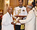 The President, Shri Pranab Mukherjee presenting the Padma Shri Award to Shri Daripalli Ramaiah, at a Civil Investiture Ceremony, at Rashtrapati Bhavan, in New Delhi on March 30, 2017.jpg