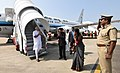The Prime Minister, Shri Narendra Modi arrives at Chennai to pay his respects to the departed leader Ms. J. Jayalalithaa on December 06, 2016. The Governor of Tamil Nadu, Shri C. Vidyasagar Rao is also seen.jpg