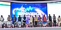 The Prime Minister, Shri Narendra Modi launching the various projects and schemes in Nagpur, at Indoor Sports Complex, Mankapur.jpg