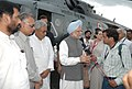 The Prime Minister Dr. Manmohan Singh briefing the media after conducting the aerial survey of the flood affected areas in Bihar on August 28, 2008.jpg