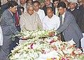The Prime Minister Shri Atal Bihari Vajpayee paying homage to Governor of Kerala Shri Sikandar Bakht in New Delhi on February 24, 2004.jpg