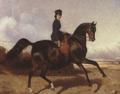 The Soviet Union 1988 CPA 5974 stamp crop. Horse Breeding Museum. 'Horsewoman Panaeva on Orlov-Rostopchin Horse' by Sverchkov, 1850s.png