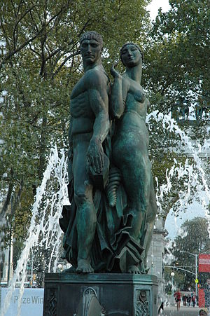 Eugene Savage - Bailey Fountain, Grand Army Plaza, Brooklyn, New York, 1932