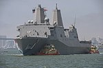 The amphibious transport dock ship USS Somerset (LPD 25) arrives at its new homeport at Naval Base San Diego (13969753071).jpg