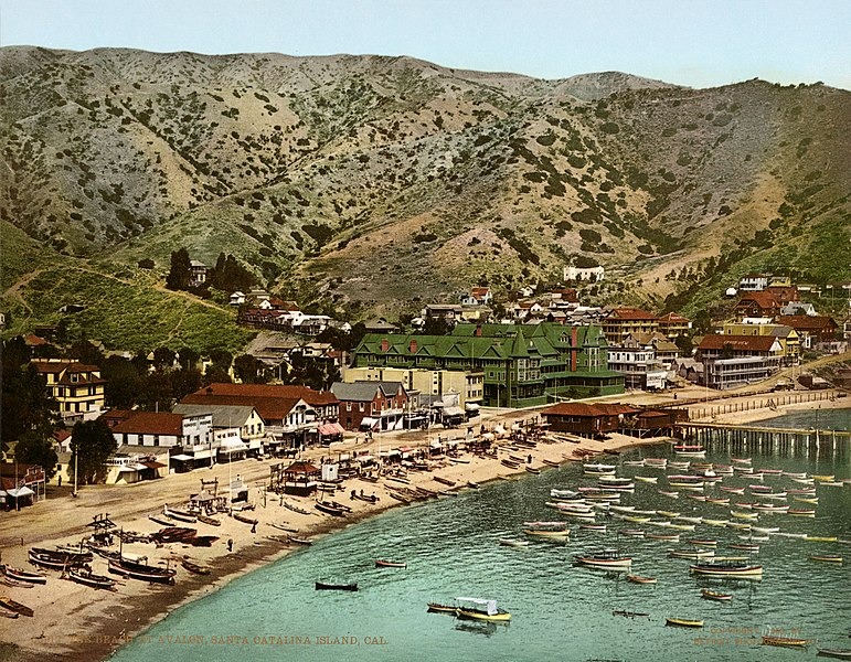 File:The beach at Avalon, Santa Catalina Island, California, 1903.jpg