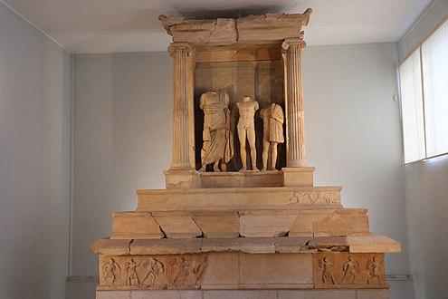 The grave monument of Niceratus and Polyxenus (detail). 4th cent. B.C.jpg